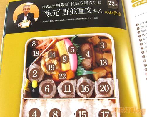 崎陽軒の代表取締役社長・野並直文氏の食べ方