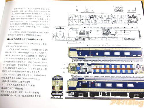「基本的な構造は前作585系に準じている。車体→屋上→床下機器の順で設計」