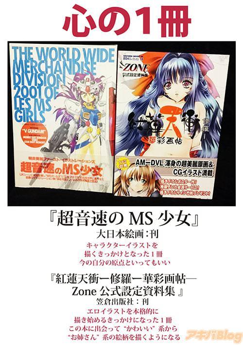 心の1冊は「超音速のMS少女」と「紅蓮天衝-修羅-華彩画帖 Zone公式設定資料集」