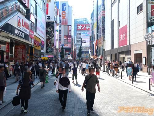 JR秋葉原駅電気街口の様子