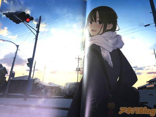 コミックマーケット93新刊 同人誌「制服日和」より 朝焼けの女の子イラスト