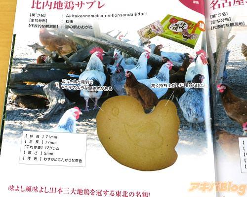 比内地鶏サブレ(秋田)「味よし風味よし!日本三大地鶏を冠する東北の名鶏!」