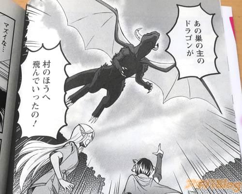 「あの巣の主のドラゴンが、村のほうへ飛んでいったの!」